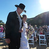 The bride and father arrive