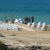 Wedding preparations at the beach