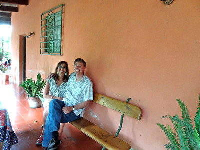 The bench at Erika's (Luky's) family home on Finca la Folie coffee plantation in Guatemala where I proposed to her. She used to sit here with her father while growing up talking about life, watching the rain and laughing.