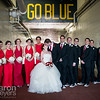 Steph & Paul Haley Wedding<br /> March 19, 2016<br /> Michigan Stadium, The Big House<br /> Ann Arbor, MI