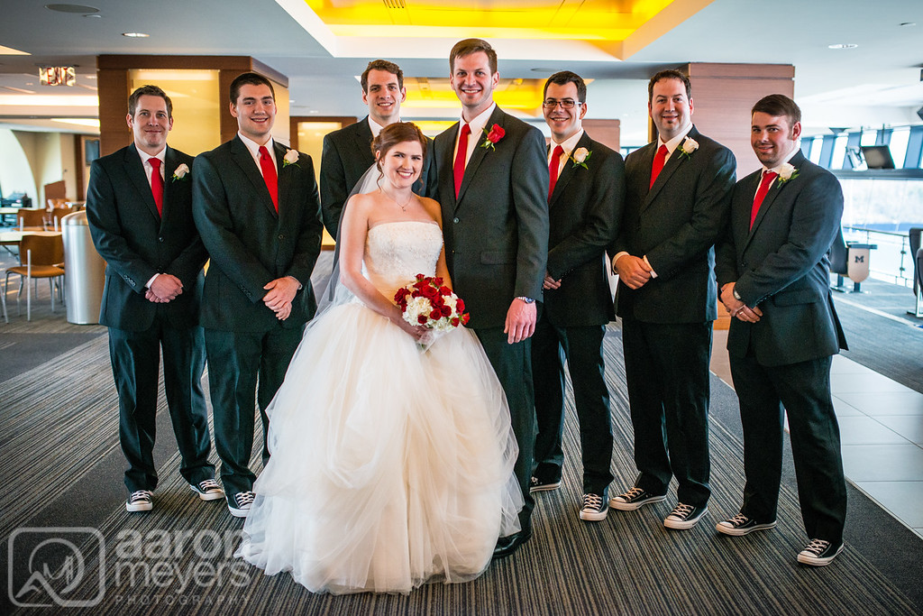 Steph & Paul Haley Wedding March 19, 2016 Michigan Stadium, The Big House Ann Arbor, MI