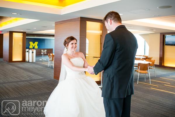 Steph & Paul Haley Wedding March 19, 2016 Michigan Stadium, The Big House Ann Arbor, MI