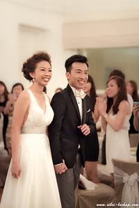 beaming couple