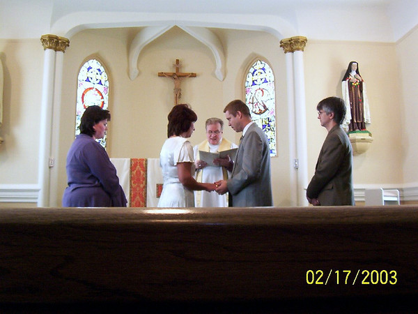 Debbie, Lori, Todd and George on our wedding day
