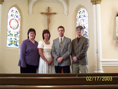 Debbie, Lori, Todd and George after the wedding