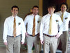 Groomsmen... Andrew is second from the right and Lynn's brother Chris is third from the right.