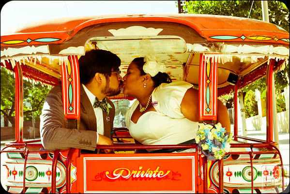 I love that this shot shows off the romance, fun and quirkiness of the couple all in one photo.