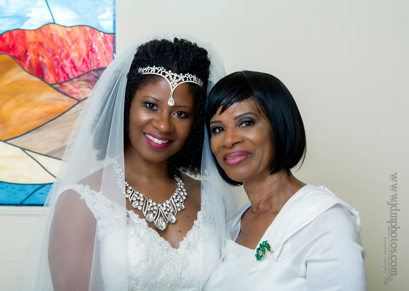 The beautiful bride and mother