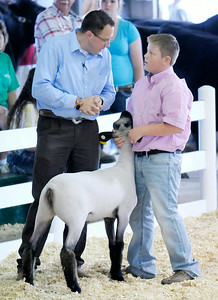 Don Knight | The Herald Bulletin Supreme Showmanship and Sheep Show at the 4-H Fair on Wednesday.