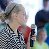 Don Knight | The Herald Bulletin<br /> Supreme Showman winner Savannah Martin offers showmanship advice at the 4-H Fair on Wednesday.