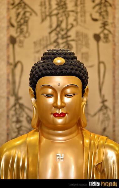 A profile shot of the Buddha.