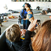 Kameda and Galvin pose for pictures before her jump.<br /> <br /> Photo by Jessica Shirley-Donnelly, JRSD Photography