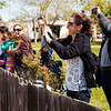 Friends and family cheer and photograph Kameda's plane as it heads toward the runway.<br /> <br /> Photo by Jessica Shirley-Donnelly, JRSD Photography