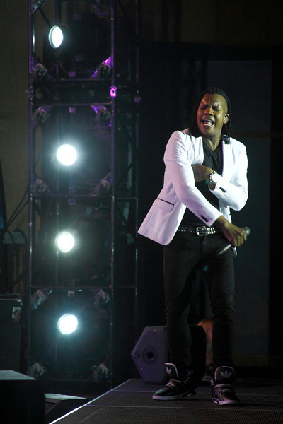 "24 April 2014 Westbrook,ME-Michael Tait, lead singer of 5 time Dove Award wining band the Newsboys, takes the stage at the Westbrook Performing Arts Center on the ""We Believe"" tour.  The evening also featured performances from Christian Recording Artists 7th Time Down and Rapture Ruckus."