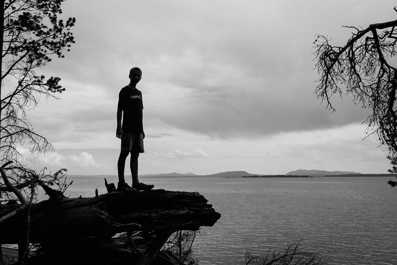 Oskar by Lake Yellowstone
