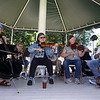 Contra dance band Oh, CONTRAire! performs at annual Strawberrie 'n' Arts Festival on Westford Town Common. (SUN/Julia Malakie)