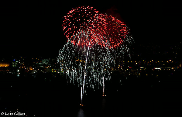 Guy Fawkes night fireworks display, Wellington Harbour, 5 November 2012