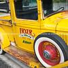 Whangamata Beach Hop 2012. Yellow Fryers Farm Truck, from Iowa.