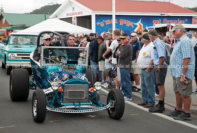 "Whangamata Beach Hop 2012. Model T Bucket""GRT 40"" Hot rod in parade."