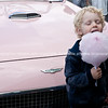 Whangamata Beach Hop 2012. Candy floss and pink car.