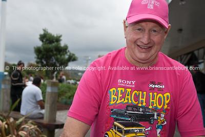 Whangamata Beach Hop 2012. Volunter crew member no. 12 doing his job.