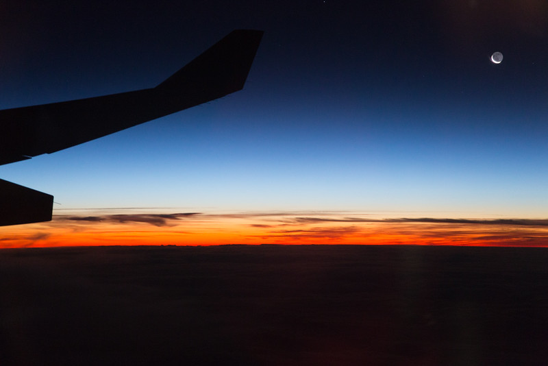 Flying home from the Antarctic - 20 December 2014