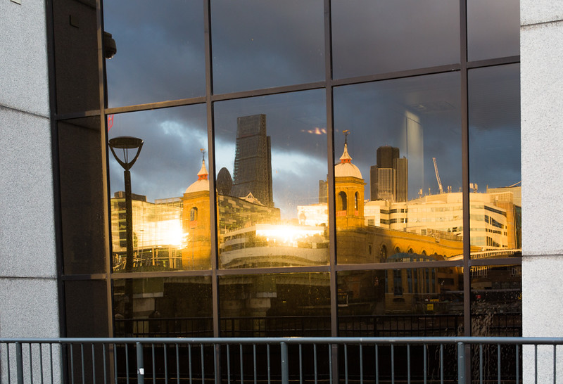 Reflection of City of London - 4 February 2015