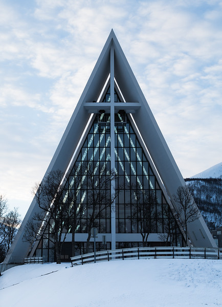 Cathedral in glass and concrete