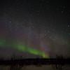 Milky Way over Northern Lights