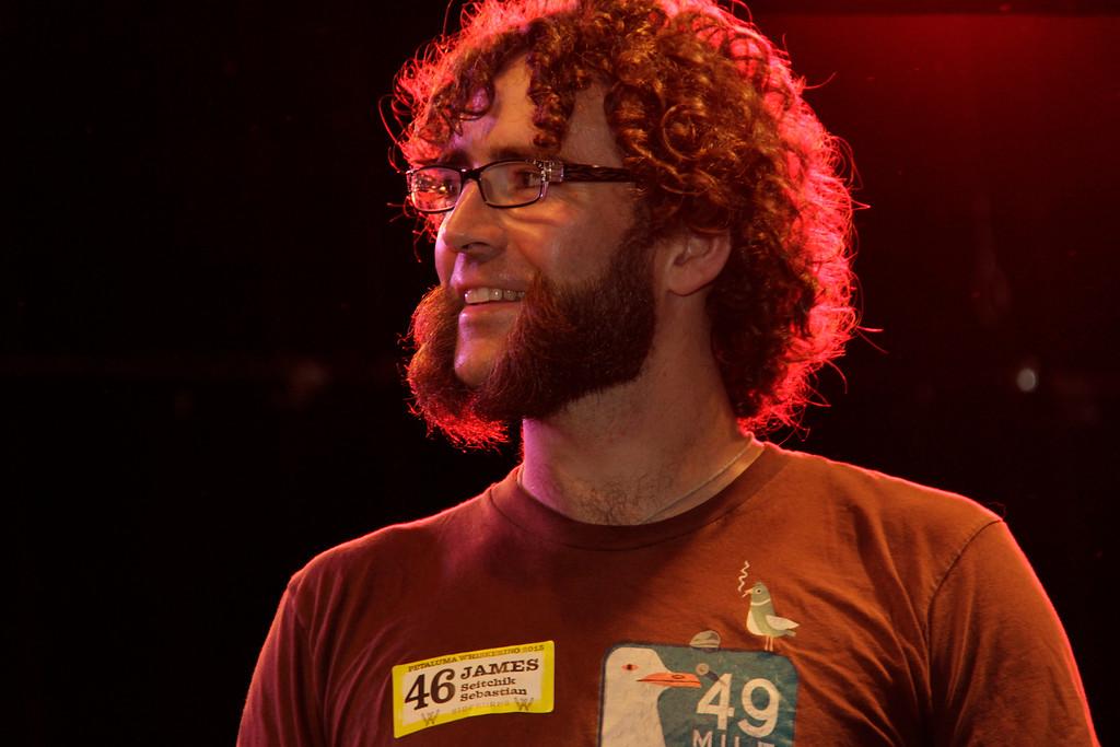 James Sebastian at the Whiskerino Contest held on October 10, 2015 at the Phoenix Theater in Petaluma, CA.