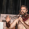 "Isaih ""Incredibeard"" Webb, who took Best of Show Golden Chicken, at the Whiskerino Contest held at the Phoenix Theather on October 5, 2013"