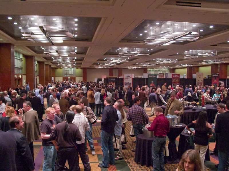 The Hyatt Ballroom, full of fine spirits and people ready to drink them.
