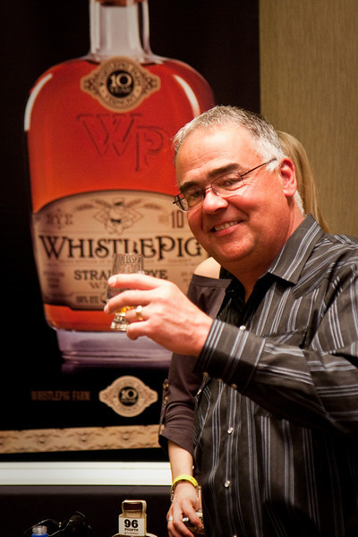 Whistle Pig straight rye whiskey. This was good.