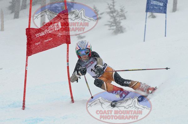 April 10th, 2011: K1 boys GS action from the 2011 Whistler Cup. Photo by Derek Sautter - coastphoto.com