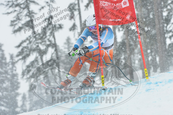 Odin Vassbotn BREIVIK of Norway takes 4th place in the Mens U16 Super G at the Whistler Cup 2014 Ski Race held on Whistler Mountain, April 4th, 2014 - Photo By Scott Brammer - coastphoto.com