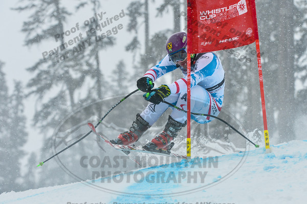 Manuel TRANINGER of Austria takes 1st place in the Mens U16 Super G at the Whistler Cup 2014 Ski Race held on Whistler Mountain, April 4th, 2014 - Photo By Scott Brammer - coastphoto.com