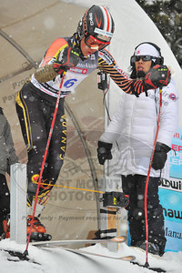 Max KIRSHENBLATT of the Whistler Mountain Ski Club/Team Canada takes 3rd place in the Mens U16 Super G at the Whistler Cup 2014 Ski Race held on Whistler Mountain, April 4th, 2014 - Photo By Jason Jo - coastphoto.com