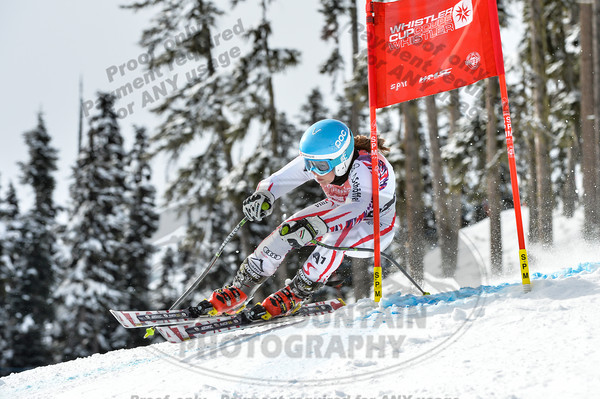 Viktoria HABERSATTE of Austria takes 1st place in the Womans U16 Super G at the Whistler Cup 2014 Ski Race held on Whistler Mountain, April 4th, 2014 - Photo By Scott Brammer - coastphoto.com