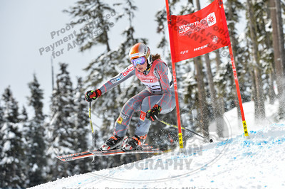 Soleil PATTERSON of Canada takes 6th place in the Womans U16 Super G at the Whistler Cup 2014 Ski Race held on Whistler Mountain, April 4th, 2014 - Photo By Scott Brammer - coastphoto.com