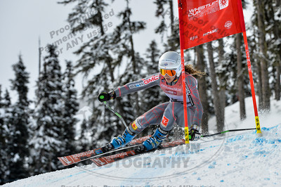Beatrix LEVER of Canada takes 4th place in the Womans U16 Super G at the Whistler Cup 2014 Ski Race held on Whistler Mountain, April 4th, 2014 - Photo By Scott Brammer - coastphoto.com
