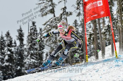 Josefine SELVAAG of Norway takes 3rd place in the Womans U16 Super G at the Whistler Cup 2014 Ski Race held on Whistler Mountain, April 4th, 2014 - Photo By Scott Brammer - coastphoto.com