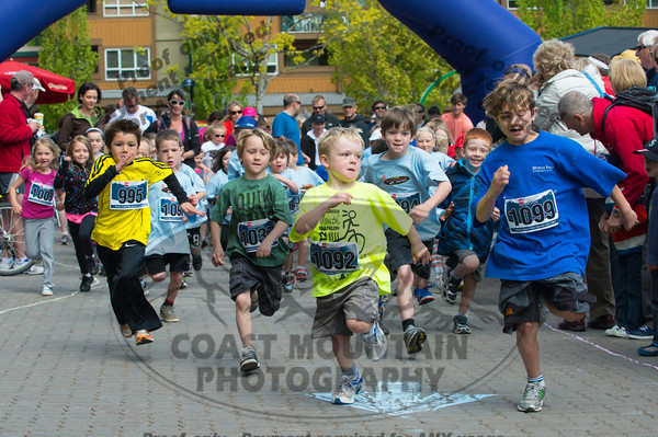 June 2nd, 2012. The start of the 1km Little Rippers Kids Race as part the Whistler Half Marathon.  Photo by Scott Brammer / www.coastphoto.com