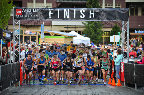 June 2nd, 2012. The start of the Whistler Half Marathon.  Photo by Logan Swayze / www.coastphoto.com
