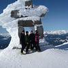 la famille Work on top of Whistler Mountain
