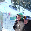 Two of Mt. Baker's finest contemplate the women's Super-G course.