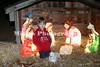 Cavin Lockhart checks out the Nativity