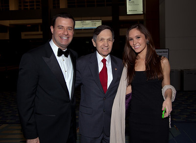 Rep. Dennis Kucinich (D-OH) (center) with David Shuster and Julia Krieger