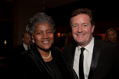 Donna Brazile (Democratic stratgegist) and Piers Morgan (CNN)