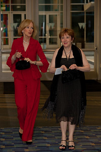 Judy Woodruff is an American television news anchor and journalist (do not know identity of the woman on right)