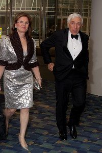 Seantor (NJ)  Frank Lautenberg entering the Convention Center with his wife Bonnie Englebardt.